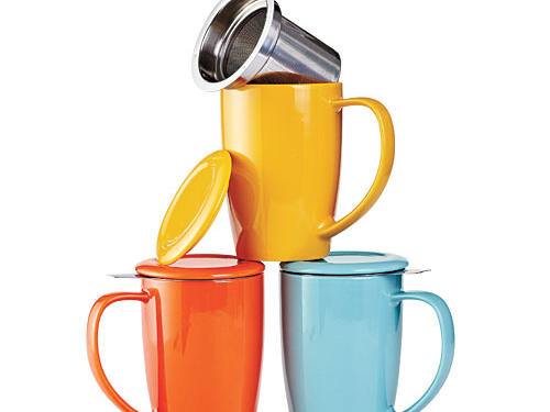 Curve Tall Tea Mug with Infuser and Lid