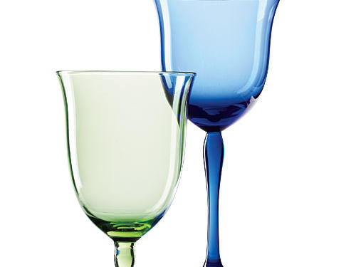 Billy Cotton Goblet Wine and Water Glasses
