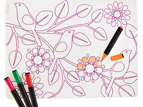 Dry-Erase Place Mat for Kids