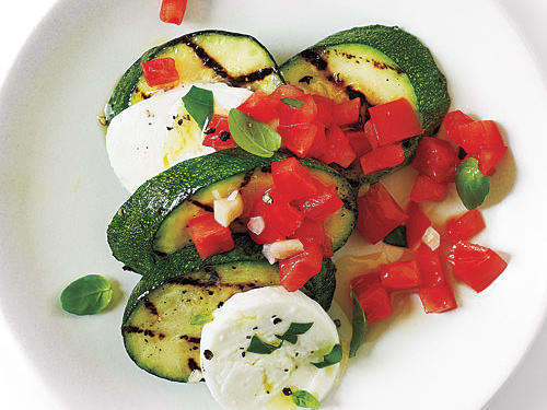Caprese  Salsa  Zucchini with Sea Salt
