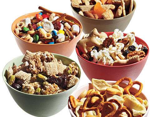 "Just because it is a ""100-calorie"" pack doesn't mean it is healthy. Make sure it offers fiber, protein, and possibly healthy fat. If not, skip it. Check out these 10 Snack Mix Recipes that kids and adults will both love."