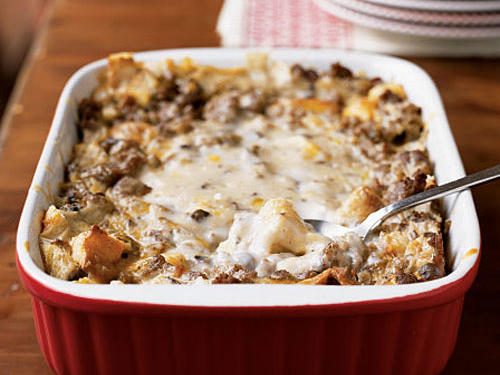 This satisfying breakfast recipe is perfect to make for weekend guests. Assemble and refrigerate the casserole the night before, and just pop it in the oven the next morning. Look for turkey sausage near other breakfast-style sausage in the frozen foods section.