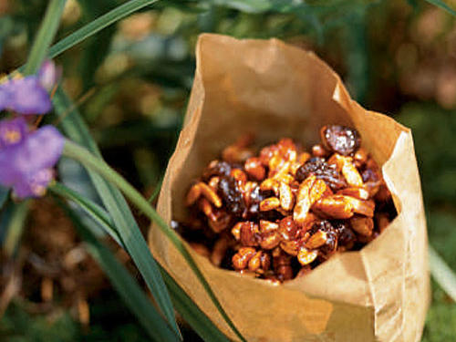 Kids' Honey-Roasted Nuts and Fruit