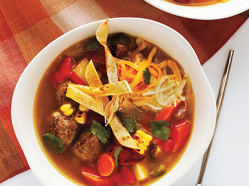 For this delicious Mexican soup recipe, if you can't find fresh corn on the cob, substitute 2 cups frozen corn kernels, and broil them with peppers. After making this soup, you can use a few leftover chipotle chiles to spice up a pot of beans, rice, stews, or canola mayonnaise.