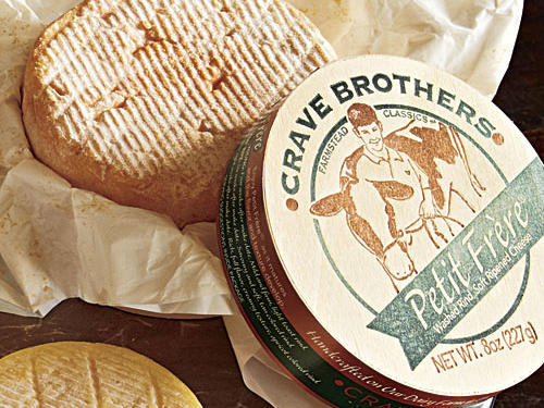 Crave Brothers Petit Frère ($10.25 for 1/2 pound)A subtle washed-rind cow's-milk cheese that quietly announces its presence with a hint of musty barnyard funk on the palate, not the nose. Smooth texture with a slightly bitter rind and a silky center.