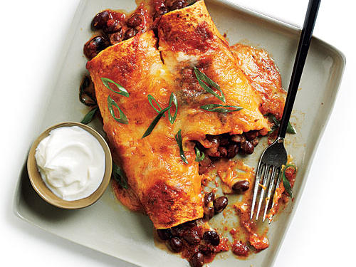 Black Bean and Cheese Enchiladas with Ranchero Sauce
