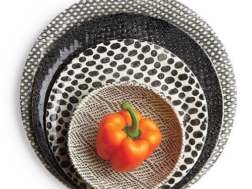Terrafirma Ceramics Inc Black Geometric Dinnerware