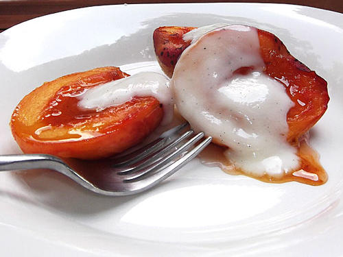 Christiane Potts's Bourbon-Glazed Peaches With Yogurt