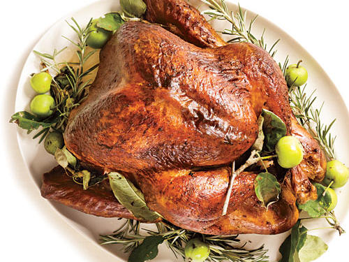 Roasted Turkey with Rosemary-Garlic Butter Rub and Pan Gravy Recipe