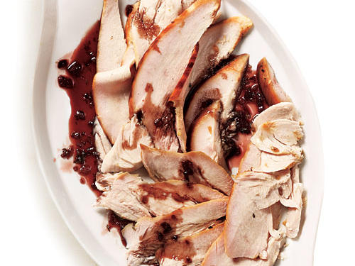 Smoke-Roasted Turkey Breast with Pomegranate-Thyme Glaze Recipe