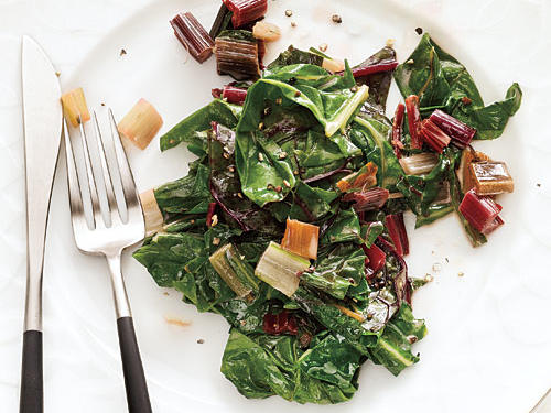 If your audience favors a creamier approach, serve Swiss chard enriched with crème fraîche—a dish that's ready in about 15 minutes. The sweet taste of the crème fraîche offers an appealing contrast to the bitter flavor of Swiss chard, a sister vegetable of kale, mustard greens, and collard greens. Enjoy this nutrient dense vegetables regularly with our collection of Swiss Chard Recipes. Not sure where to find creme crème fraîche? Look for it at your local supermarket among the specialty cheeses or at gourmet food stores.