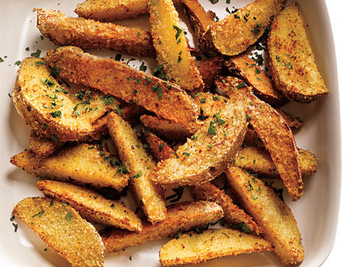 Parmesan-Coated Potato Wedges Recipe