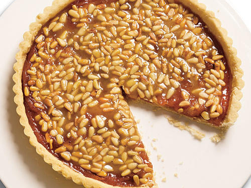 Quince Tart with Pine Nut Caramel Glaze Recipe