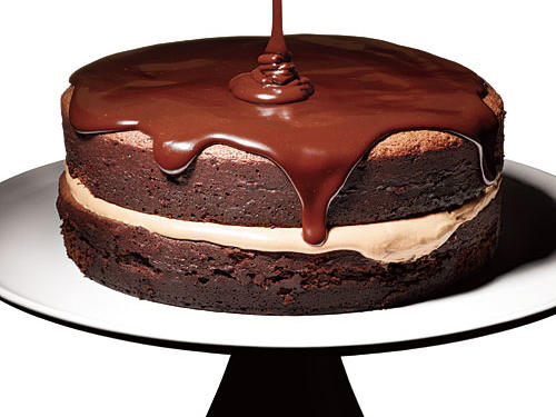 For those who say it's not dessert if it's not chocolate: Creamy milk chocolate mousse is sandwiched between intensely chocolaty cake layers.