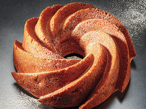 Bundt pans come in varying designs and sizes. Feel free to alter the baking times on these recipes to fit a smaller or larger pan. Miniature bundt cakes are ideal for gift giving when wrapped individually in celophane.
