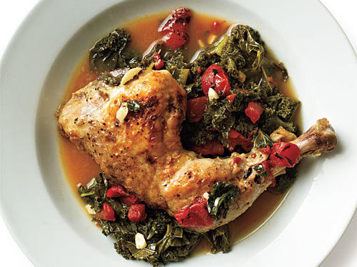 Braised Chicken with Kale Recipe