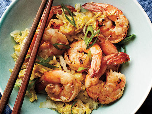 1111 Cantonese-Style Shrimp and Napa Cabbage