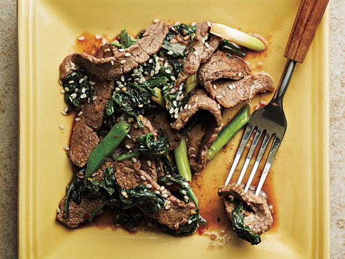 Master the art of stir-fry with this beef-based, Asian-inspired dish. If presliced beef is not available, ask your butcher to thinly slice flank steak or boneless sirloin steak.