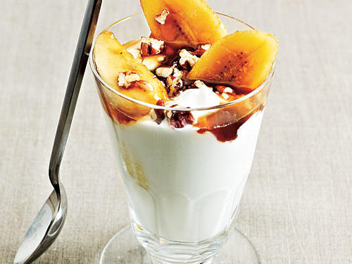 Superfast Holiday Dishes Bananas Foster Parfaits