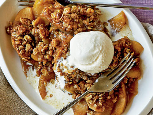 These simple desserts offer the comfort of fruit pies but without the work of making a piecrust. Cobblers have a softer biscuit-like topping and texture, while crumbles and crisps have a crunchy, buttery, streusel-like topping that provides a contrast to the soft fruit in the filling.