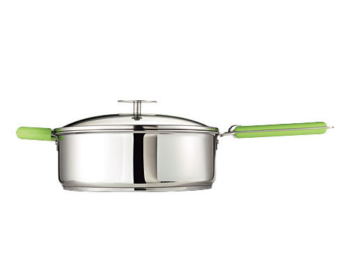 One set of click-on handles fits every pan and lid in Cristel's gorgeous line, newly imported from France.