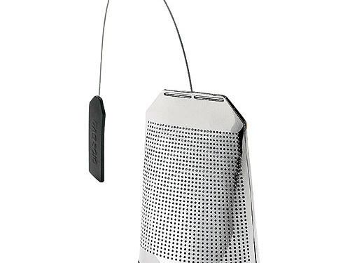 Infuse some style into teatime courtesy of MoMA's metal mesh tea strainer.