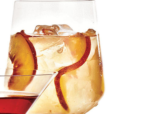 Wine and brandy, dressed with sugar and fruit juices, which add 25% more calories.260 calories per 8 fl. oz.