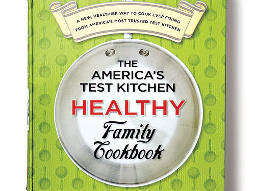 The America's Test Kitchen Healthy Family CookbookBy the editors at America's Test Kitchen, America's Test Kitchen, 2010. Hardcover. $35; 520 pagesThis comprehensive collection of 800+ family and global favorites helps put healthy eating in an everyday context, from meat loaf to Indian curry with chicken. Whole grains and vegetables abound, dishes use leaner cuts of meat, and portion sizes are sensible.Recipes reveal clever lightening tricks that you'll feel compelled to try, like browning a smaller amount of butter for bigger flavor in Chocolate Chip Cookies. Stripped of the lengthy trial-and-error reporting of its magazine counterpart, Cook's Illustrated, this book takes a CliffsNotes approach with product recommendations (high-performing muffin pans), kitchen tips (how to quickly thaw steaks), and other helpful information on just about every page. Nutrition analysis is also provided with each recipe.GIVE THIS TO: The practical cook of any skill level who wants ideas for everyday healthy meals for her family. —Ann Taylor Pittman