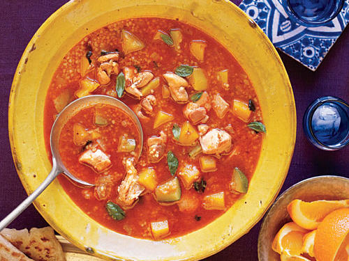 Moroccan Chicken and Butternut Squash Soup