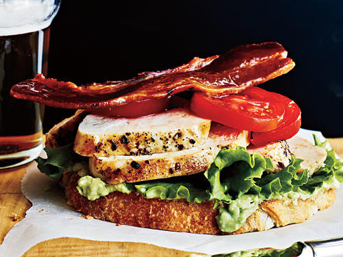 Open-Faced Chicken Club Sandwiches Recipe