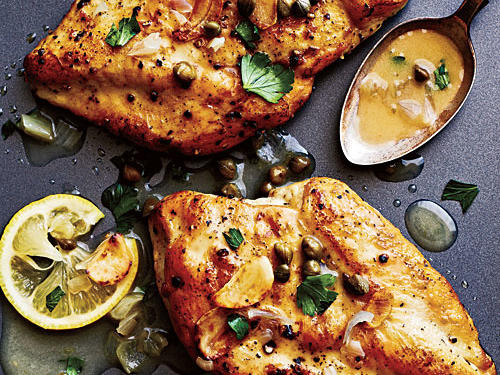 Briny capers, white wine, and bright lemon really make this bird sing. Serve tangy Chicken Piccata with mashed potatoes or roasted seasonal root vegetables.