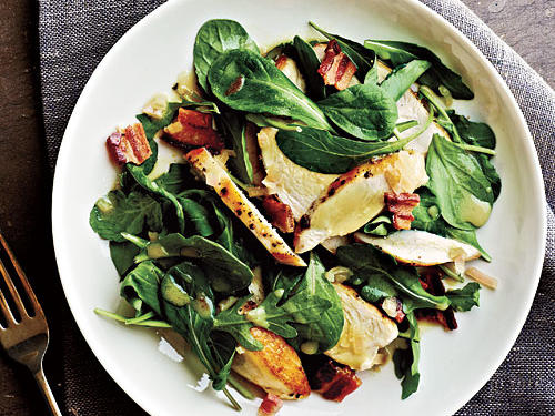 Sautéed Chicken and Warm Bacon Vinaigrette