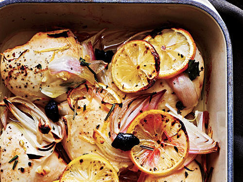 Chicken with Olives and Lemons Recipe