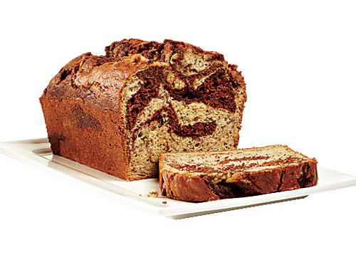 Marbled-Chocolate Banana Bread Recipe