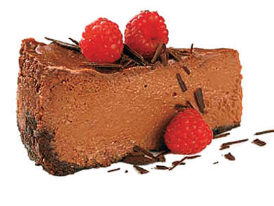 A splash of rum added to the melted chocolate gives this chocolaty cheesecake an advantage.
