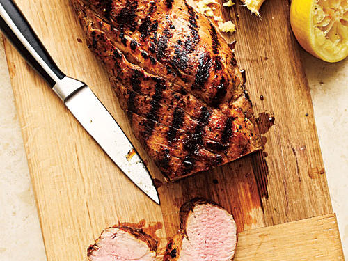Pan-Grilled Ginger-Honey Pork Tenderloin