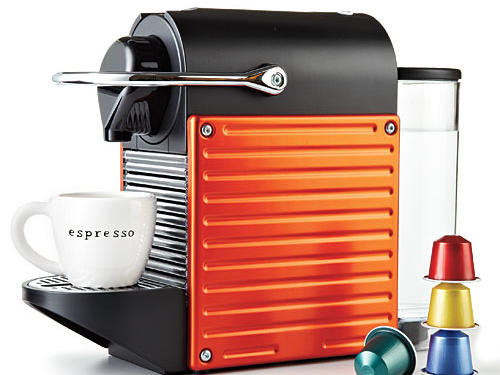 Nespresso's Pixie is like having an adorably petite in-house barista. Small footprint doesn't hog counter space, and piping hot espresso is ready in 20 seconds. Available in six colors; includes a starter set of 16 capsules ($250, nespresso.com).