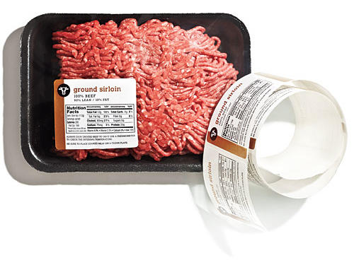 Ground Sirloin Meat Label
