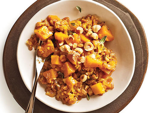 """Farrotto"" with Butternut, Gruyère, and Hazelnuts"