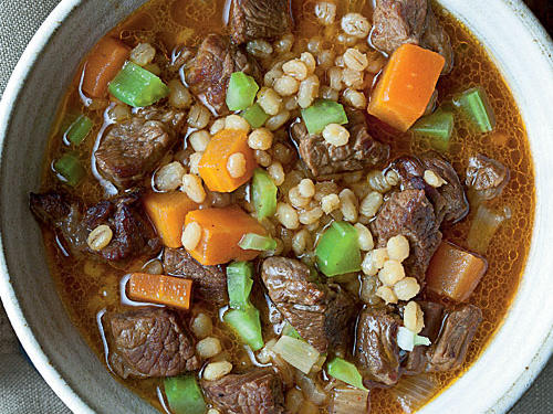 Barley and Beef Soup Comfort Food Recipe