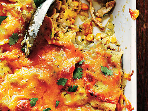 A bubbling hot casserole is the quintessential comfort food. They are welcome at just about every occasion. And talk about convenient: Most of the prep can be done in advance. This Chicken Enchilada Casserole is no exception. Prep ahead and bake when you're ready to eat.
