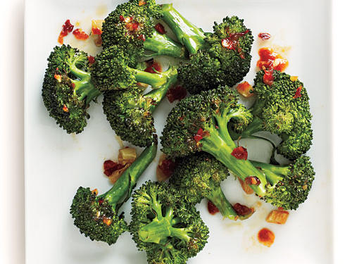 Roasted Chile-Garlic Broccoli Comfort Food Recipe