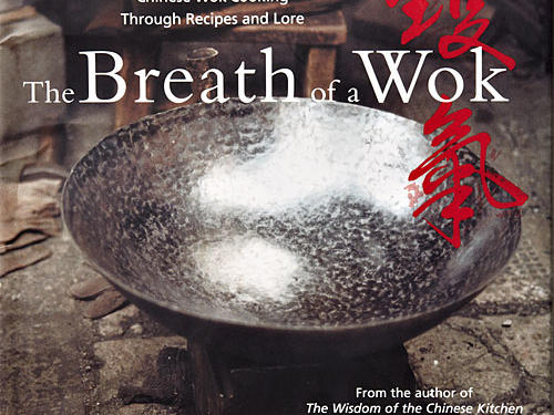 "The Breath of a Wok: Unlocking the Spirit of Chinese Wok Cooking Through Recipes and Lore By Grace Young and Alan Richardson, Simon & Schuster, 2004. Hardcover. $35; 240 pagesIt's hard to overstate the centrality of the wok to many Asian recipes. Watching chefs turn out stir-fried dishes in a busy Hong Kong restaurant, agog at the huge whooshes of flame from roaring burners, makes you long for even a bit of that skill. This is self-evident: Parboiling crowded food in a lukewarm nonstick pan doesn't cut it.Grace Young opens with a recollection of her parents teaching her to respect ""wok hay, the prized, elusive, seared taste that comes only from stir-frying in a wok."""