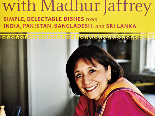 At Home with Madhur Jaffrey: Simple, Delectable Dishes from India, Pakistan, Bangladesh, and Sri Lanka By Madhur Jaffrey, Knopf, 2010. Hardcover. $35; 301 pagesThis is a veteran Indian cookbook author Madhur Jaffrey's bid to take a user-friendly approach for cooks who love the flavors of Indian cooking but don't have the time or patience for full mortar-and-pestle deployment. Jaffrey confesses to being time-pressed herself and sets out to deliver characteristic flavors in less time. This might strike a traditionalist as heretical. For example, traditional curry requires separate browning of wet seasonings (onion, ginger, garlic), toasting of dry spices, and browning of meats. In some cases Jaffrey simply puts all of the ingredients together, allows the meat to marinate, and then cooks. Baked Beef Curry proved both quick and deeply flavorful. There's nothing careless about this approach.