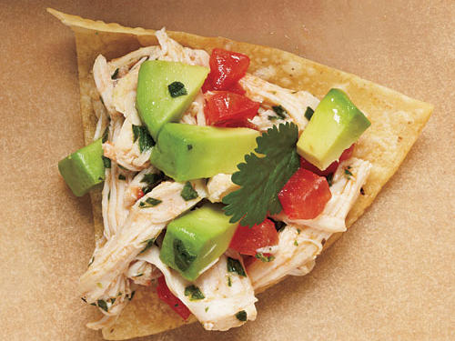 View Menu: Avocado Chicken Salad on tortilla chips Menu