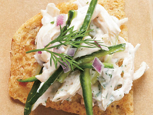 We made a classic Greek sauce of creamy yogurt and cucumber for the base of this tangy salad.Tzatziki Chicken Salad on pita chipsMixed Greens SaladView Menu: Tzatziki Chicken Salad on pita chips Menu