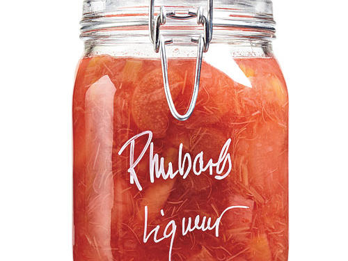 Toast the sweetness of spring with this homemade rhubarb liqueur. Flavored with sugar, vodka, Grand Marnier, and, of course fresh rhubarb, this seasonal drink is perfect served with seltzer or straight up and ice cold.