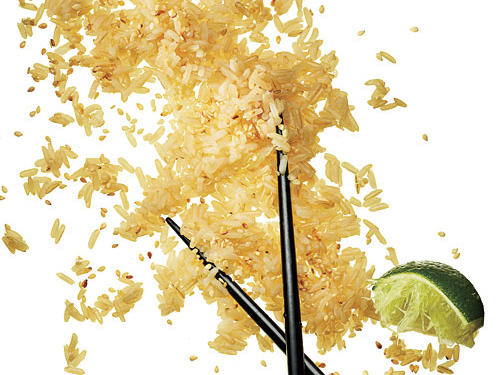 Lime adds a pleasant splash of tartness to this quick side dish of brown rice.