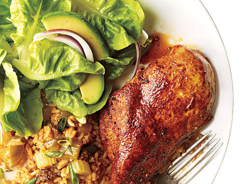 Wine & Beer Matchmaker: Blackened Chicken with Dirty Rice Recipe