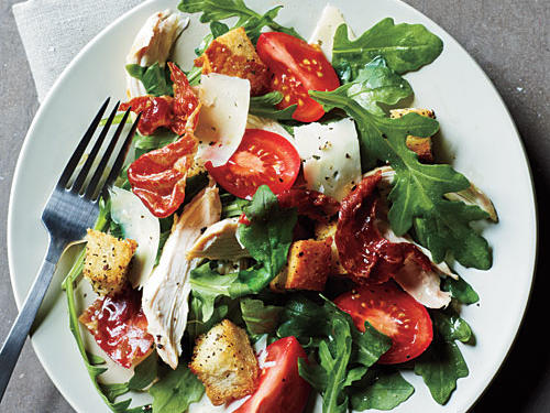 Chicken and Prosciutto Salad with Arugula and Asiago